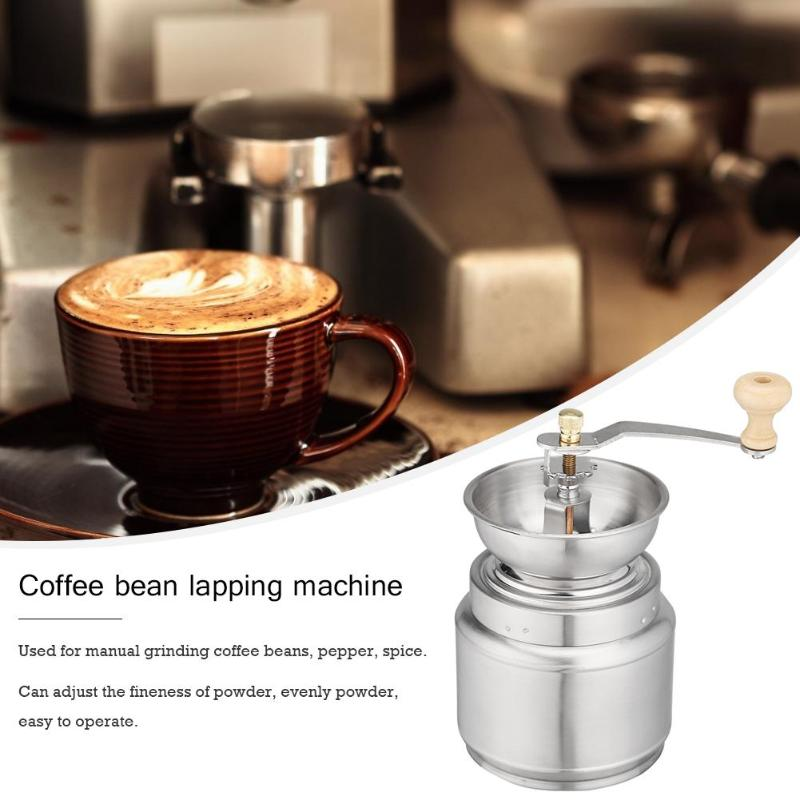 Portable Stainless Steel Hand Manual Coffee Grinder Handmade Bean Pepper Spice Burr Mill Kitchen Grinding Tool For Home 2019 New