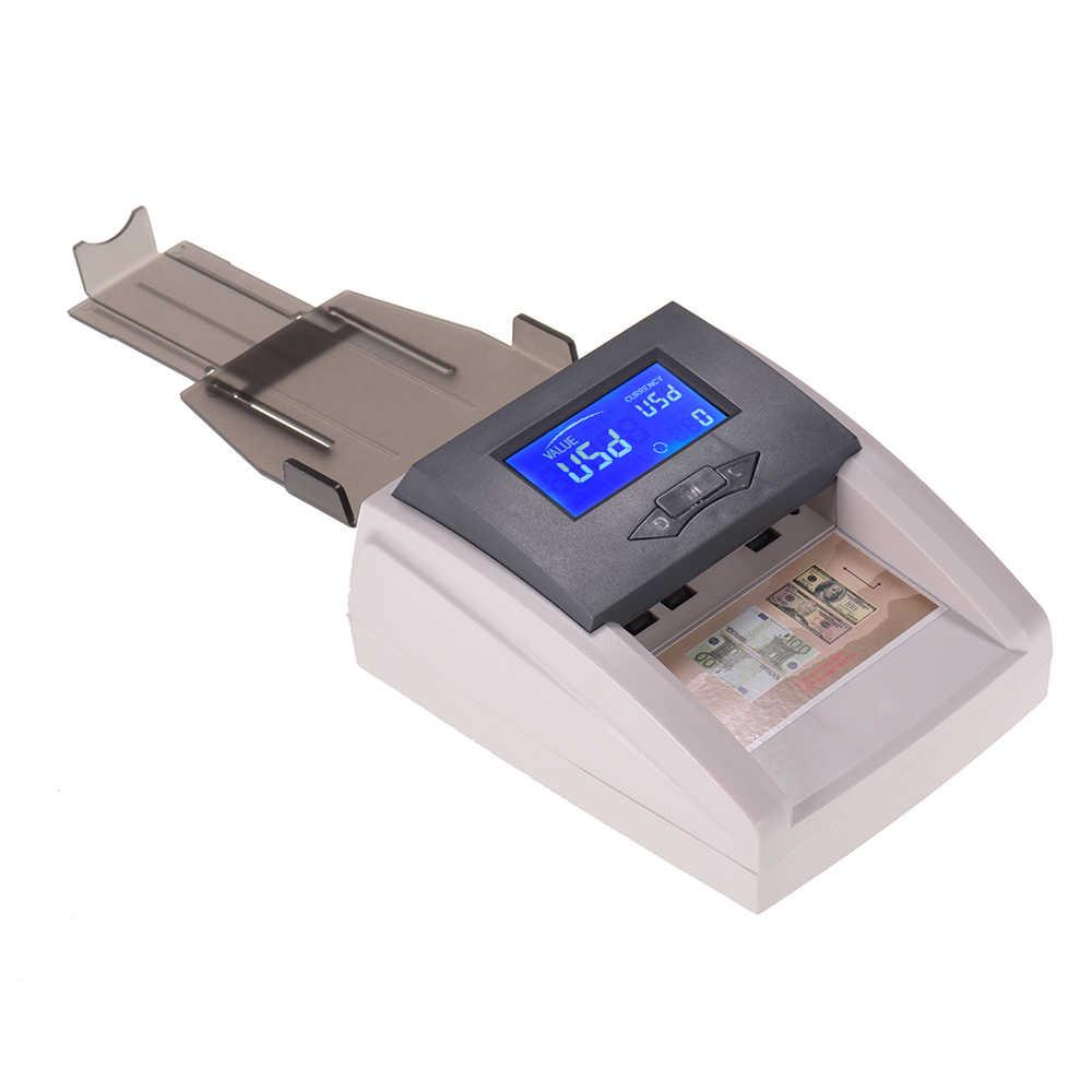 Otomatis Detektor Uang Palsu Portable Arus Mata Uang Uang Kertas Checker dengan LCD Display untuk Euro USD