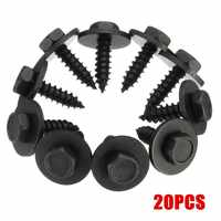 100 PCs 8mm Self Tapping Tapper Screw And Washer For BMWmodels 4.8 x 19 mm Black Self Tapping Tapper Screws