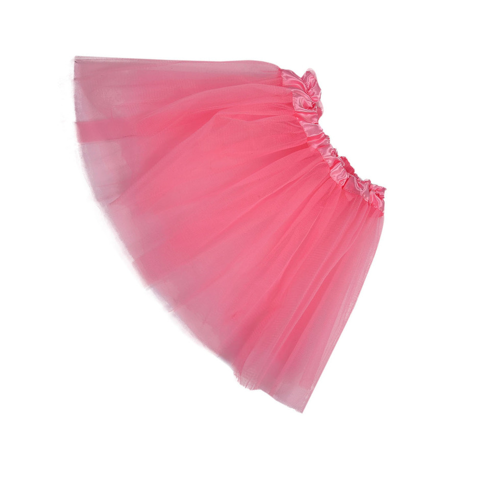1X Pink Girls Princess Fairy Tutu Ballet Dress Up Twirly Skirt 3 Layers 1-3Z6C2
