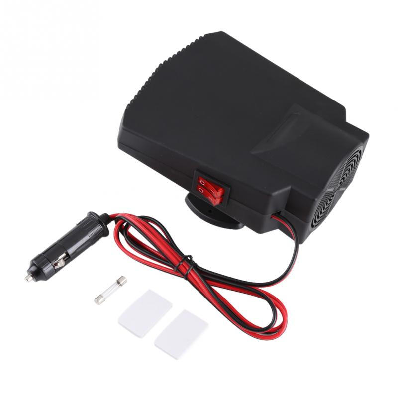 Portable 12V 250W Car Windshield Window Defroster Ceramic Heater 2 in 1 Car Heater Cooler Fan