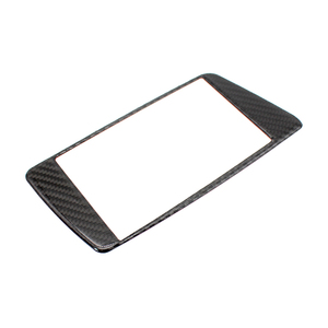 Image 2 - For Audi Q5 2009 2010 2011 2012 2013 2014 2015 2016 2017 Carbon Fiber Car Styling Navigation Dashboard Panel ScreenFrame Cover