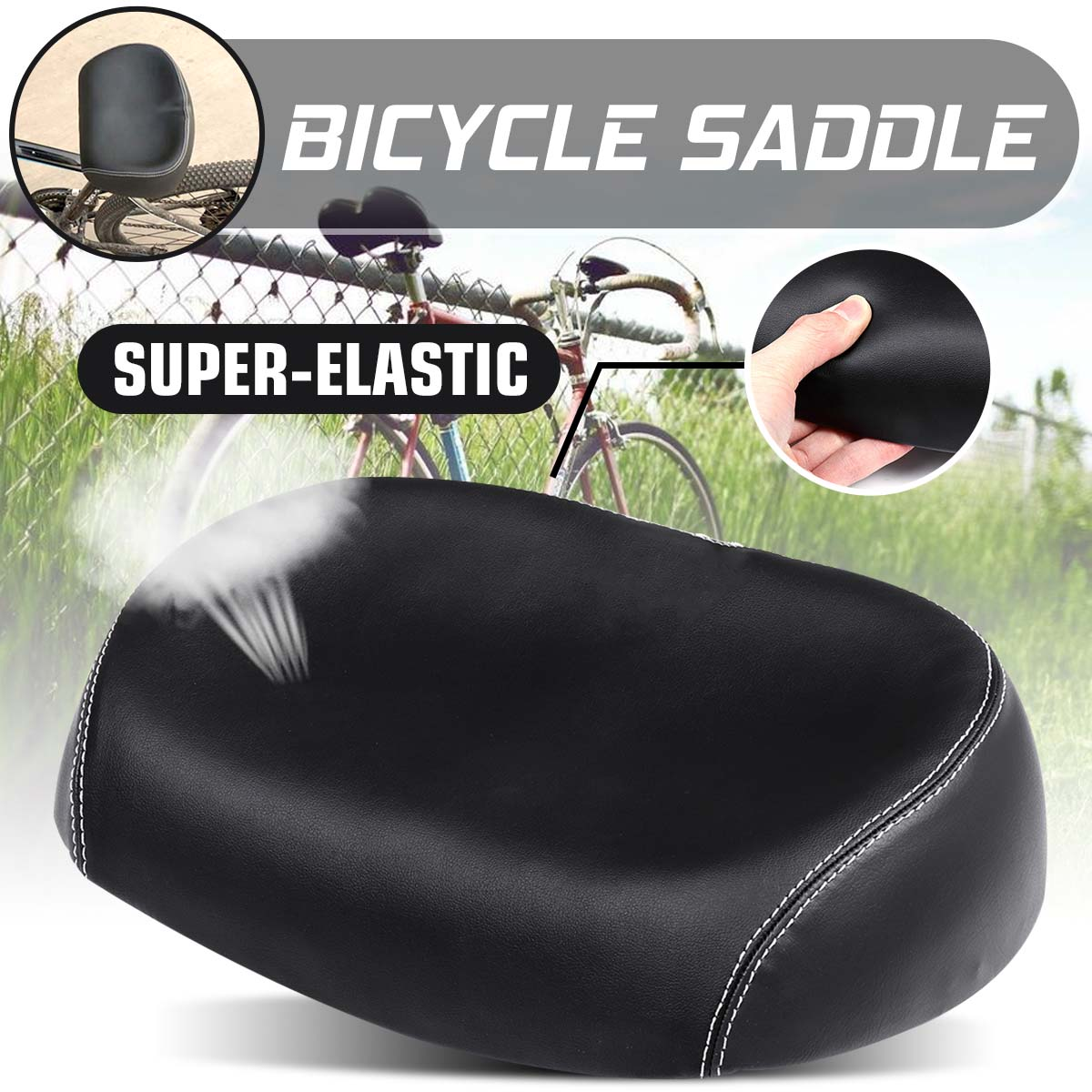 Bicycle Saddle Big wide Comfortable Bike Seat Softer for MTB Mountain