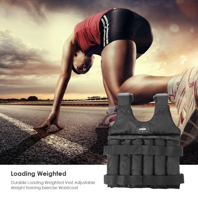 Max 20/50 Kg Of Load Weight Adjustable Weighted Vest Jacket Vest Exercise Boxing Training Invisible Weightloading For Running