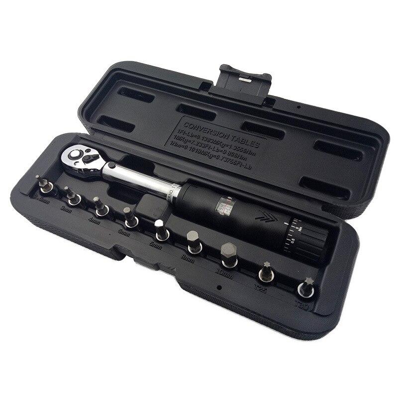 BHTS-1/4 pouces DR 2-14Nm vélo clé dynamométrique ensemble vélo outils de réparation kit cliquet clé dynamométrique mécanique clé dynamométrique manuelle