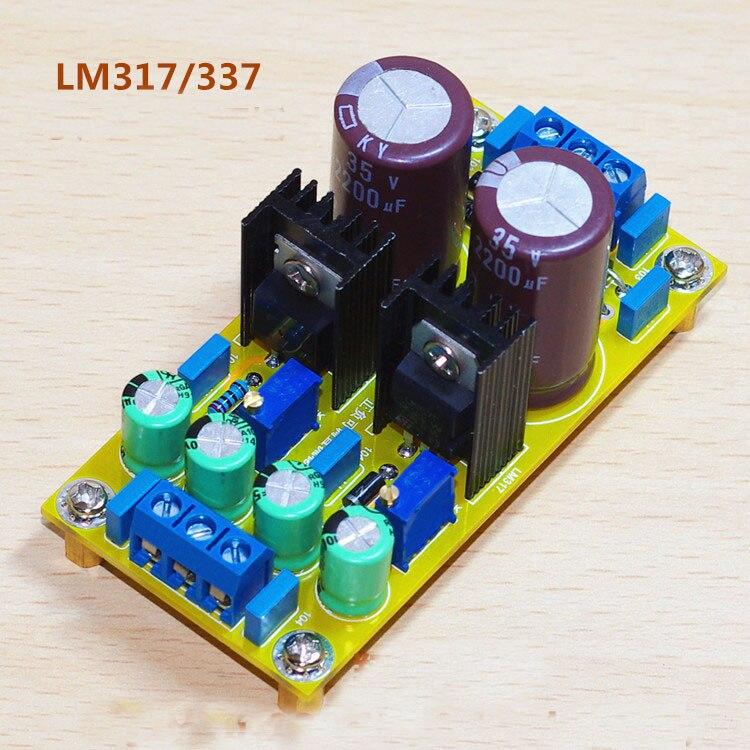 AC-DC LM317 LM337 Adjustable Regulated Dual Power Supply Module Board DIY Kits Positive Negative Voltage 1.25V-30V 5v 9v 12v 15v
