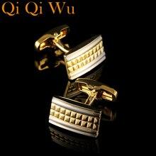 цена Luxury Shirt Cufflinks for Men's Brand Cuff Buttons Gold cuff links Gemelos High Quality Wedding Abotoaduras Jewelry Free ship онлайн в 2017 году
