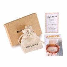 Raw Amber Teething Bracelets for Boy(Cognac Raw)