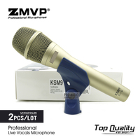 2pcs/lot Top Quality KSM9 Professional Live Vocals Dynamic Wired Microphone Karaoke Super cardioid Podcast Stage Performance Mic