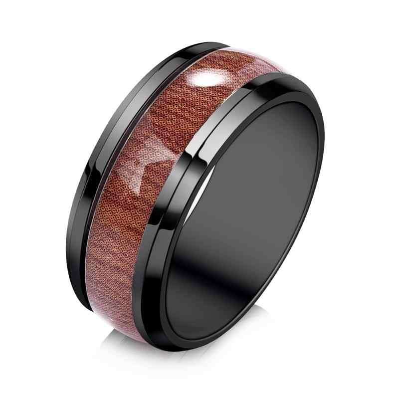 Jiayiqi мужской браслет, набор колец из нержавеющей стали, браслет из натуральной кожи, мужской браслет, ювелирные изделия