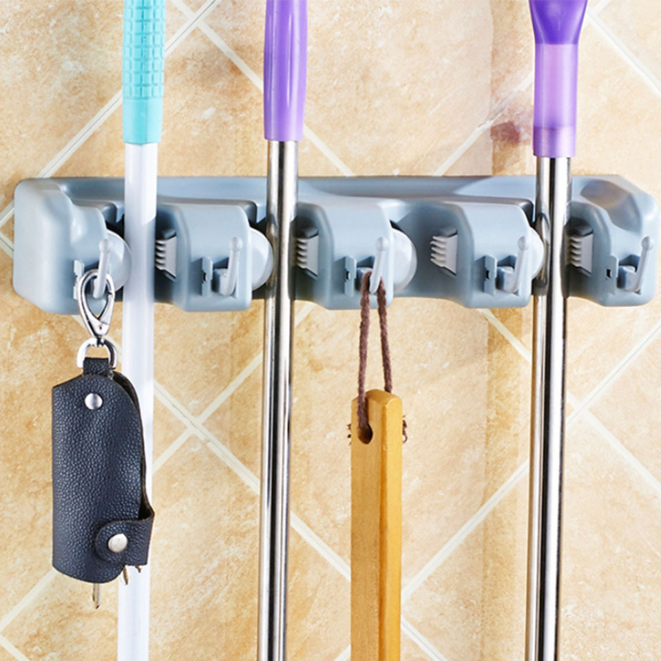 Best Plastic Wall Broom Holder With Pp Hooks Used As