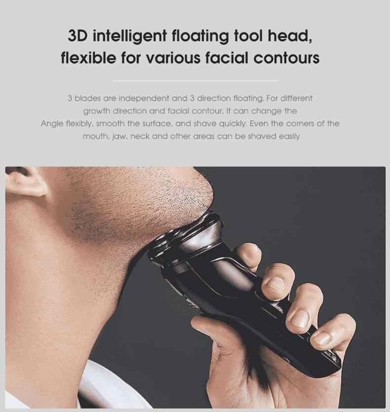 ... Xiaomi Soocas blanco ES3 maquinilla de afeitar eléctrica de afeitar  inalámbrico 3D inteligente flotante IPX7 USB ... b9e4a99e966d