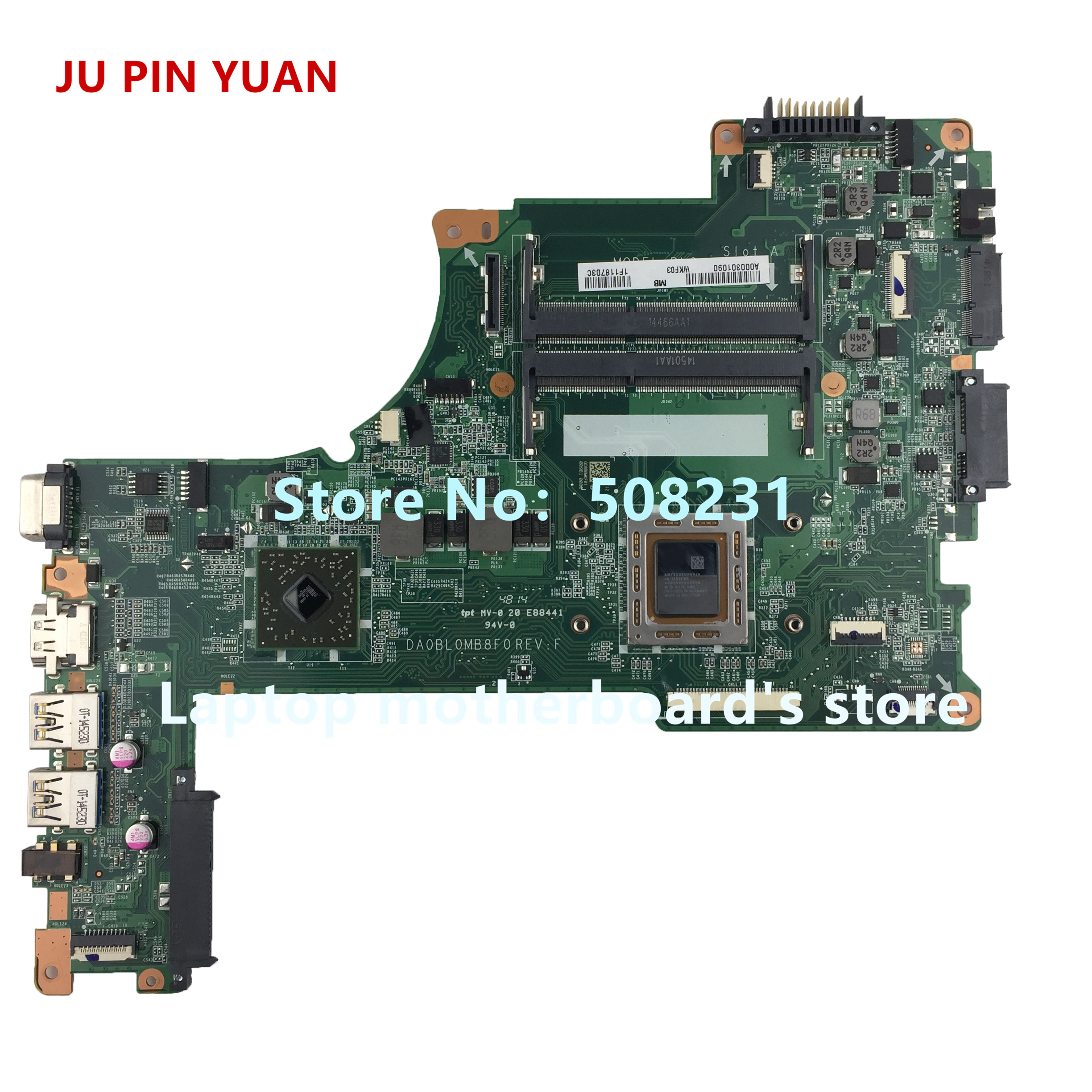 JU PIN YUAN A000301090 Mainboard For Toshiba Satellite L50D L55D L50D-B L55D-B Laptop Motherboard DA0BL0MB8F0 With A10-7300 CPU