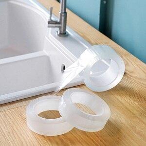 Image 1 - ウォールコーナーラインステッカーセラミックステッカー pvc 防水テープ浴室アクセサリー自己粘着透明ステッカー