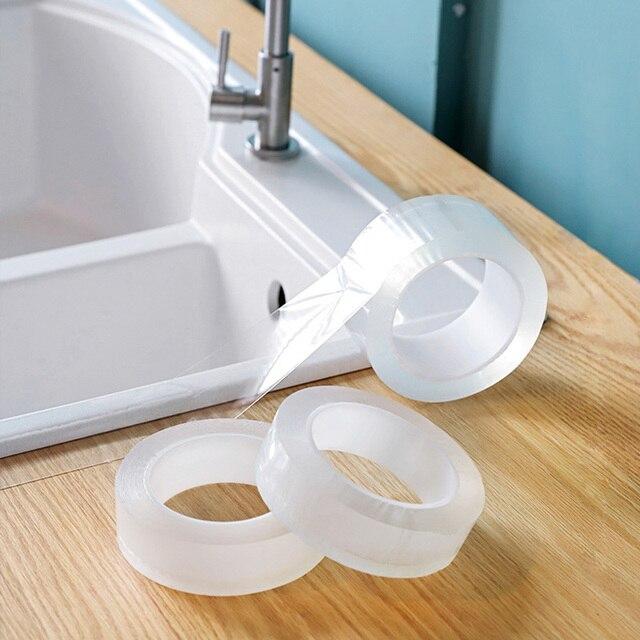 ウォールコーナーラインステッカーセラミックステッカー pvc 防水テープ浴室アクセサリー自己粘着透明ステッカー