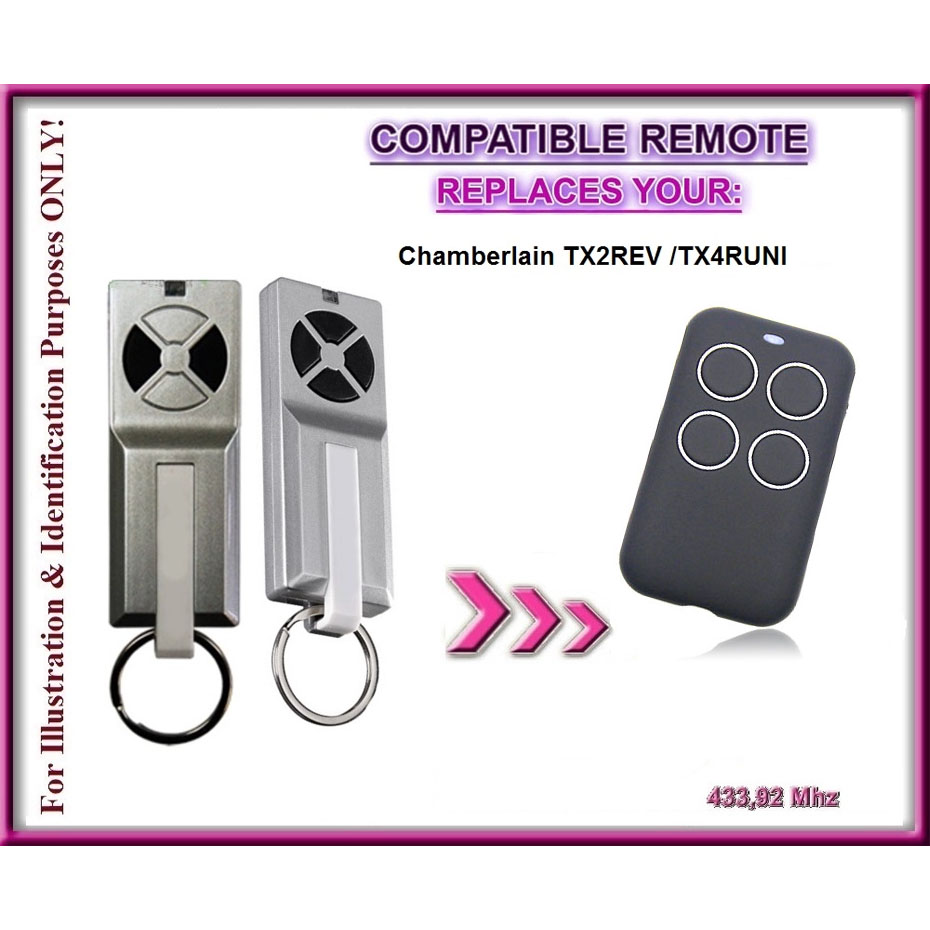 Liftmaster 94335E compatible remote control, 433,92Mhz replacement remote MOTORLIFT <font><b>84335EML</b></font> CHAMBERLAIN 94335E remotes image