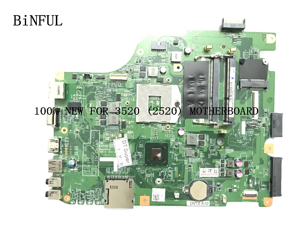 BiNFUL AVAILABLE  MAINBOARD 100% NEW DV15 MLK MB 111280-1 MXRD2 PWB REV: A00 FOR DELL INSPIRON 3520  LAPTOP MOTHERBOARDBiNFUL AVAILABLE  MAINBOARD 100% NEW DV15 MLK MB 111280-1 MXRD2 PWB REV: A00 FOR DELL INSPIRON 3520  LAPTOP MOTHERBOARD