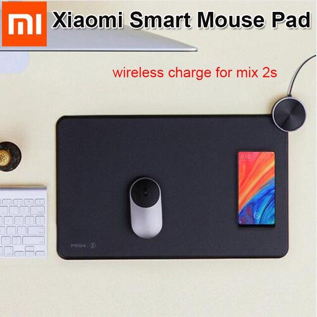 D'origine Xiao mi mi IIW MWSP01 Smart Qi Standard Support mi mi x2S sans fil charge tapis de souris RGB lumière tapis de souris ABS tapis de souris