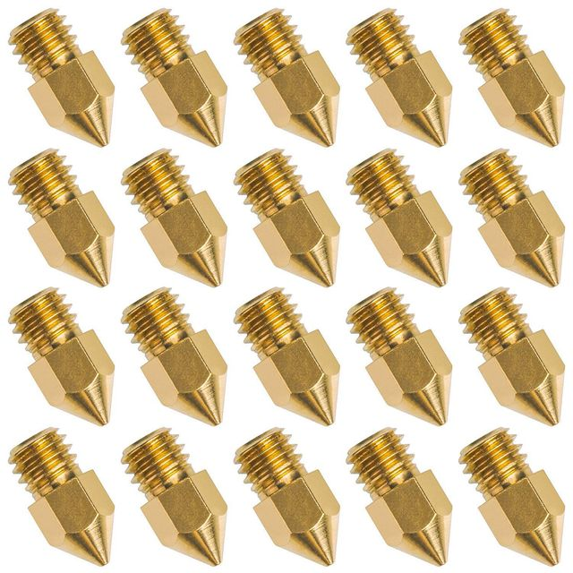 Best Offers 20 PCS 3D Printer Nozzle 0.4mm MK8 Extruder Head for Creality Cr10