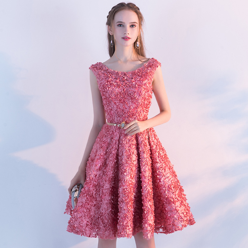2019 Spring Summer Fashion Elegant Party Dress Women Sleeveless Dress Female Floral Lace Dress Casual Slim Lady Dress