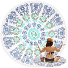 Indian Round Mandala Towel Beach Microfiber Tapestry Wall Hanging Polyester Towes Serviette De Plage