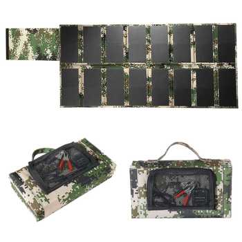 17V 100W Outdoor Waterproof Foldable Solar Panel Charger Mobile Power Bank Dual USB Port 5V 3A DC5521 For Phone Laptop Car