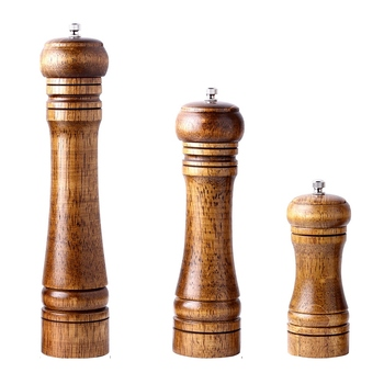 3pc Ceramic Salt And Pepper Mill Manual Solid Wood Pepper Mill With Strong Adjustable Ceramic Grinder 5 Inch 8 Inch 10 Inch Ki Mills