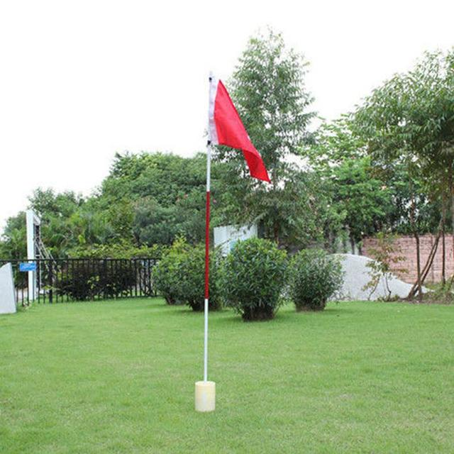 Backyard Practice Golf Hole Pole Cup Flag Stick 3 Section Golf Putting Green Flagstick Golf Flag and Flagpole Golf Hole New