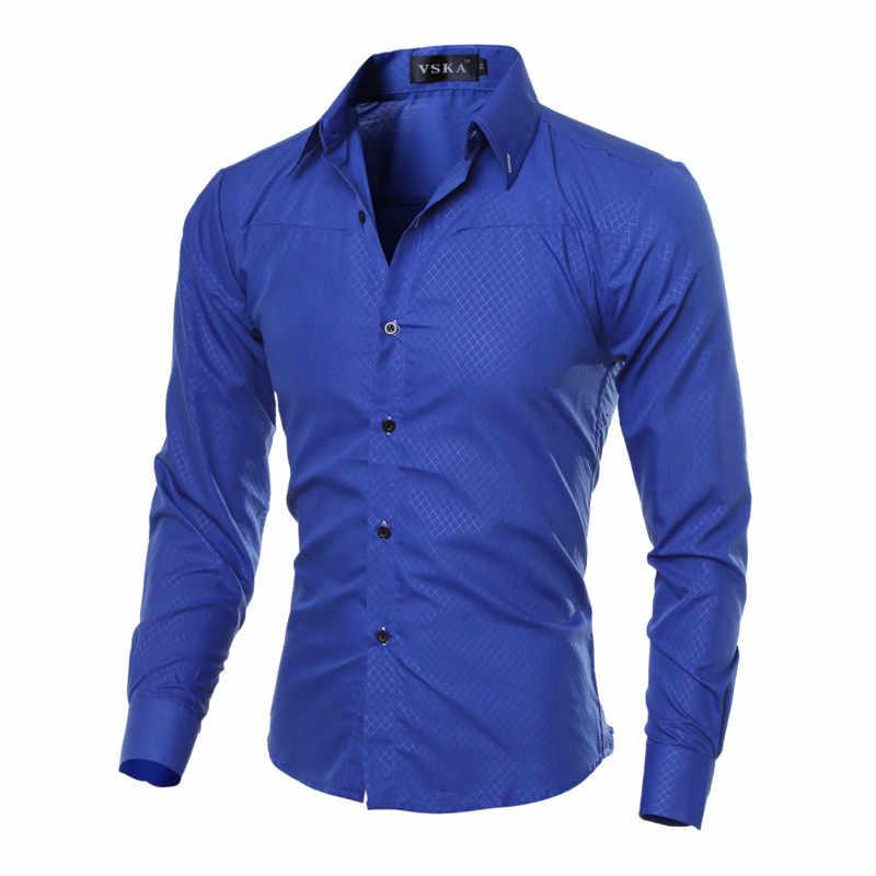 5XL Plus rozmiar marka-odzież bawełniana odzież męska solidna miękka koszula męska z długim rękawem męskie koszule Casual Slim Fit gorąca sprzedaż
