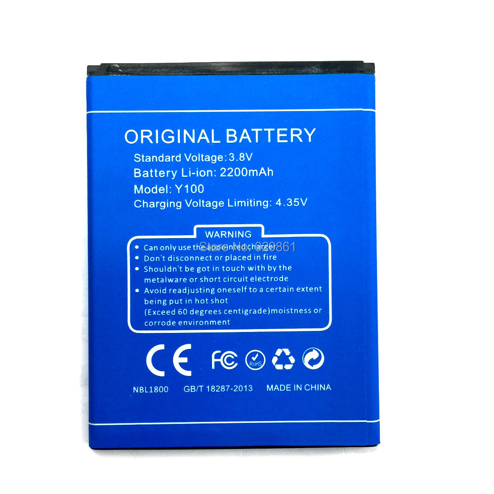 2019 New <font><b>Y100</b></font> 2200mAh battery Replacement For <font><b>Doogee</b></font> <font><b>Valencia</b></font> <font><b>2</b></font> <font><b>Y100</b></font> <font><b>Pro</b></font> Cell Phone in Stock +Track code image
