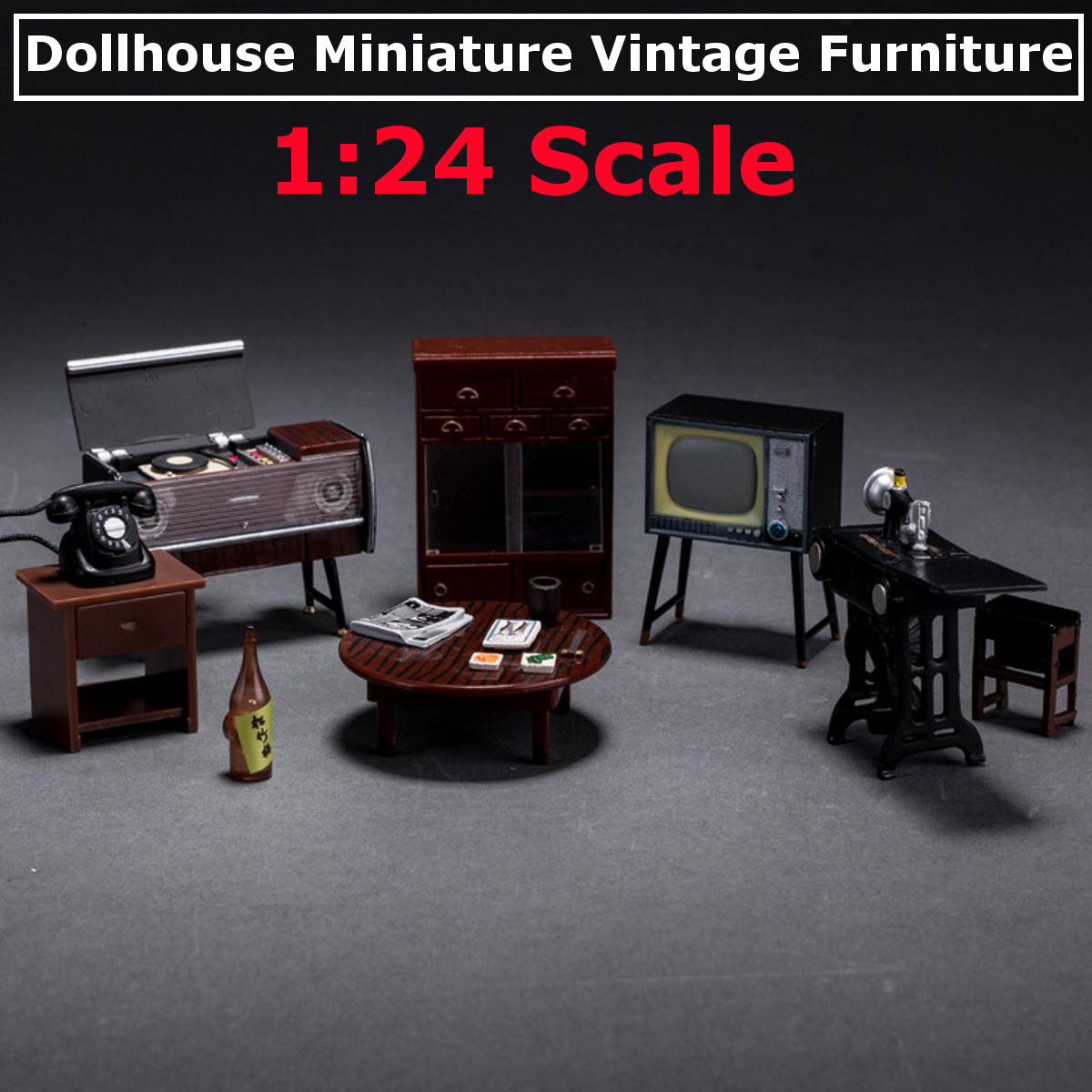 2pcs 1:12 Scale Dollhouse Miniature Vintage Living Room Garden Park Lamps