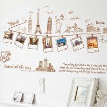 Мировые путешествия мировой тур стикер на стену карта Наклейка на стену Декор для дома гостиной офиса обои диван украшение Европейский путешествия