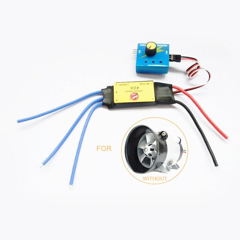 Controlador ESC de 12V 40 a máx. 480W para turbina eléctrica de coche, cargador Turbo, ventilador de admisión de aire Tan Boost
