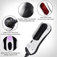 Dropship 3 In 1 Far Infrared Dryer Hair Brush Hair Straightener Air Comb Promote Scalp Blood Circula Salon Beauty Supplies