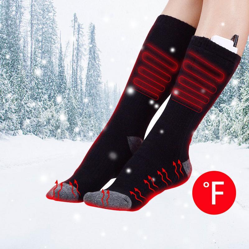 Chaussettes de Ski d'hiver chauffées rechargeables température réglable batterie infrarouge chaussettes chaudes chauffées Sports de plein air chaussettes de Ski