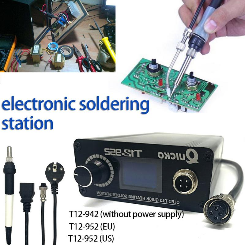T12 942 Electronic DC 952 Station Soldering Digital Design New T12 Iron Version Soldering 2018  OLED T12 MINI T12 Iron Portable