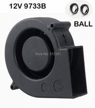 цены 5 pieces/lots Gdstime Ball 12V 97mm x 33mm DC Brushless Turbo Blower Fan 9733 Centrifugal Blower Cooler Cooling Fan