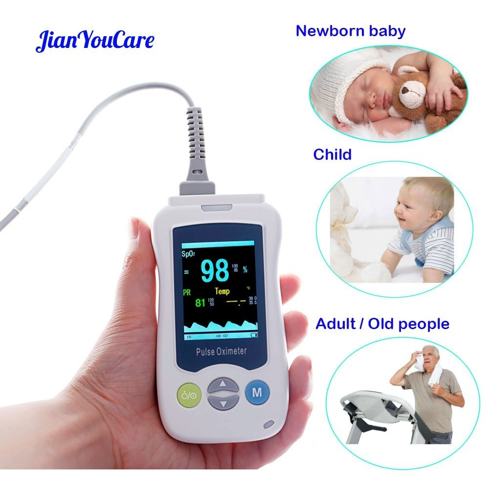 Medical Portable Handheld Pulse Oximeter For Adult Newborn Infant Neonatal Child Baby Kids Mini De Pulso