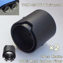 Matte Carbon Fiber Exhaust tip 71MM INLET OD 93MM OUTLET OD For BMW M Performance 2pcs/lot adams high performance interactive graphics – m od rend