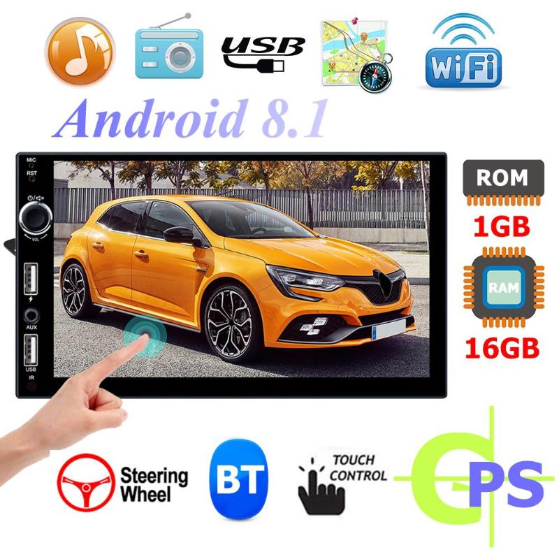 QUAD-core Android 8.1 Car Stereo MP5 Player + Phonelink+ Bluetooth Music Player+ FM Radio+ WiFi GPS Navi Mirror Link Auto AudioQUAD-core Android 8.1 Car Stereo MP5 Player + Phonelink+ Bluetooth Music Player+ FM Radio+ WiFi GPS Navi Mirror Link Auto Audio