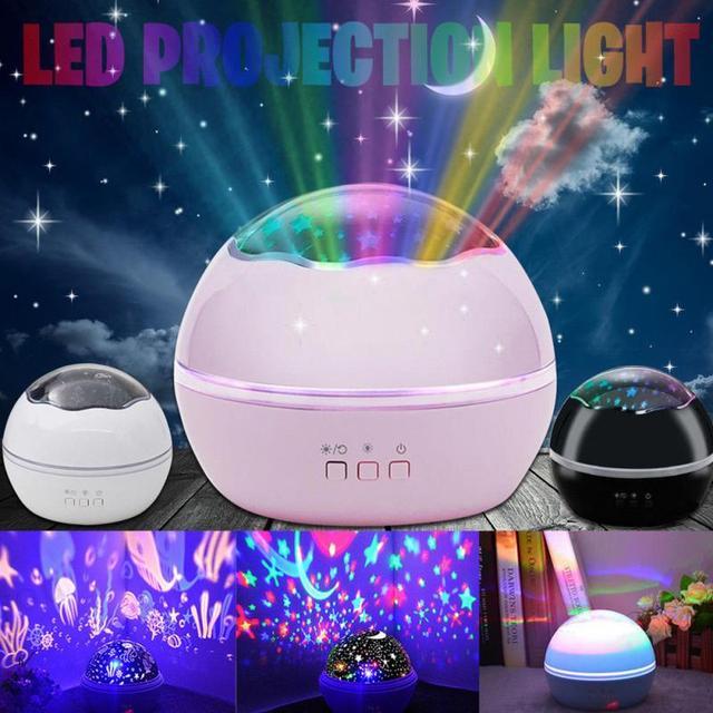 Us 14 78 Led Rotating Night Light Projector Spin Starry Moon Sky Star Master Children Kids Baby Nursery Sleep Usb Lamp Abajur In