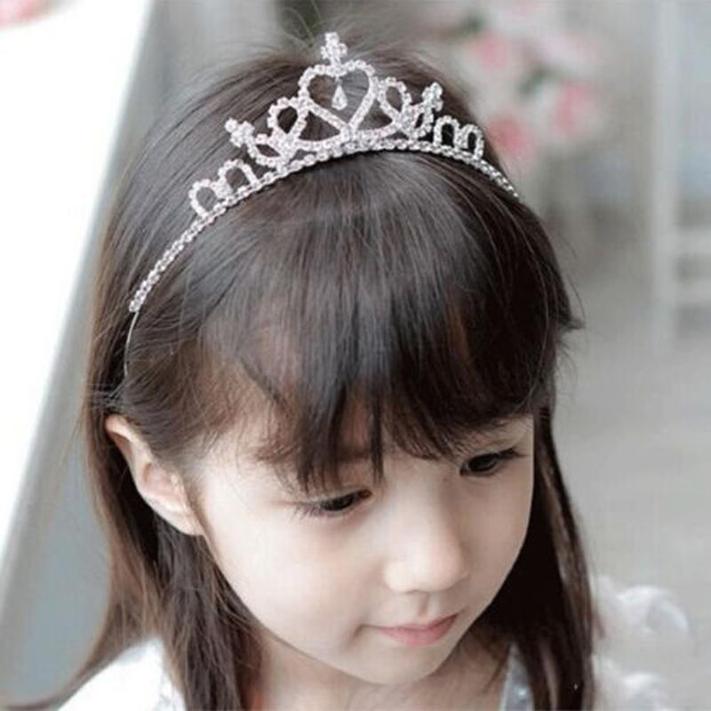 Baby Crystal Tiara Hair Bows Baby Girls Headwear Party Accessiories Kids Girls Headdress Children Bridal Princess Prom Crown