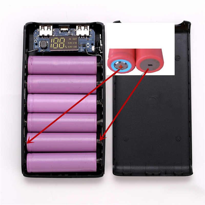 Bez spawania cyfrowy mobilny powerbank zestawy diy 6*18650 skrzynka na akumulator + 5V 1A 2A obwód ładowania pokładzie moduł ładowarki