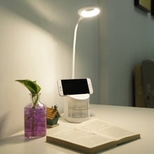 LED 360 degrees Desk Lamps Pen Holder Study Table Lamp Eye-Caring Reading Night Light Touch Control