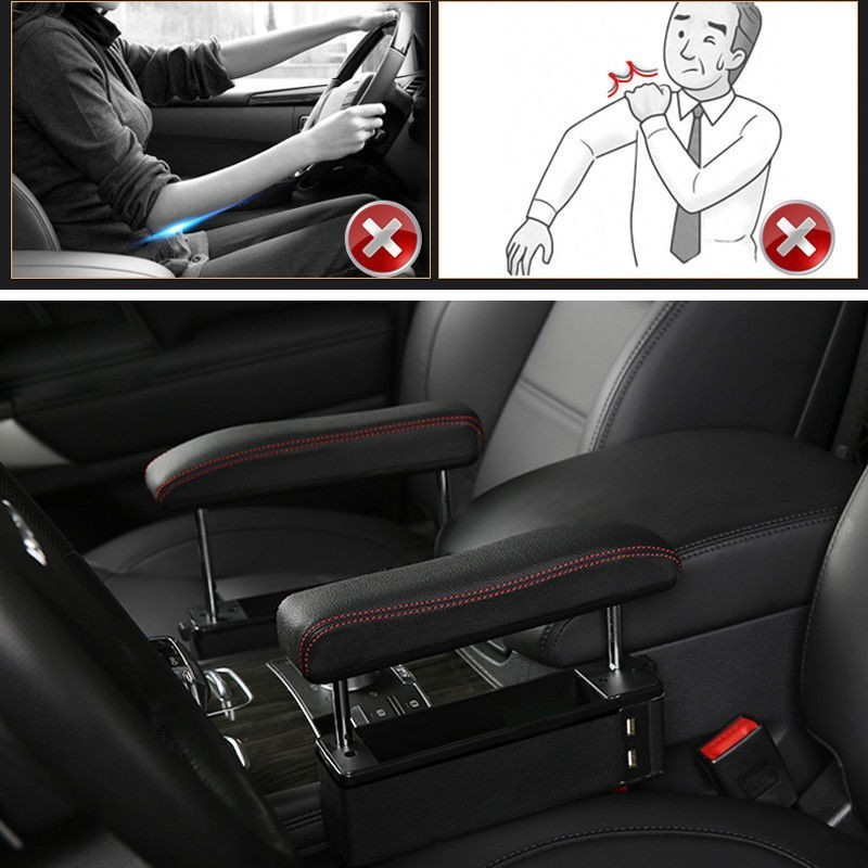 Car Seat Modified Armrest Box Elbow Support Free Punching Universal Lifting Armrest Elbow Support Seat Clip