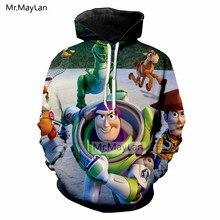 Cartoon Toy Story Cute Buzz Lightyear Snake 3D Print Jacket Men/women Hipster Hoodies Hood Sweatshirts Boys Tracksuirts Clothes