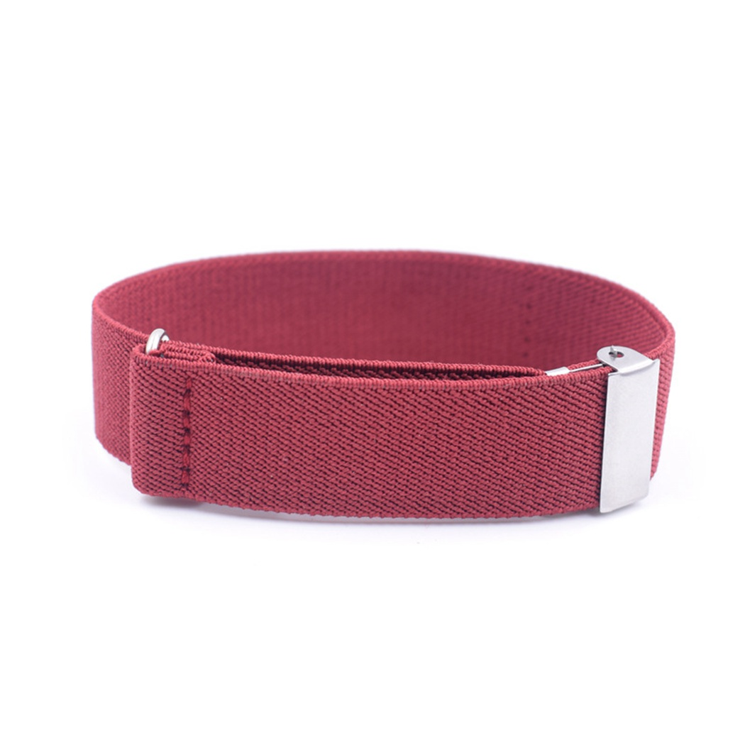 1 Pair Man&Women Fashion Anti-Slip Shirt Sleeve Garters Solid Color Adjustable Armband Elasticated Sleeve Holders