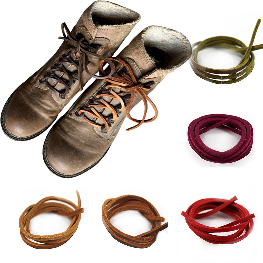 1 Pair Of Rawhide Leather Shoelaces Shoestrings Boot Shoe Laces Free Shipping