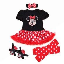 La Navidad de 2019 recién nacido Minnie vestido de 4 unids set bebé Niñas  Ropa niño niña ropa conjunto bebé Minnie Mouse traje r. 3541b1d1995