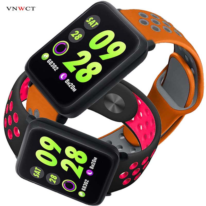 Digital Watches Considerate Vnwct Smart Watch M28 Ip68 Waterproof Bluetooth Heart Rate Blood Pressure Smartwatch For Xiao Mi Android Ios Phone Link Sport 3 Men's Watches
